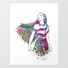 Princess Pocahontas Art Print