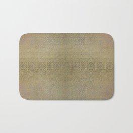 Gold and Silver Leaf Bridget Riley Inspired Pattern Bath Mat