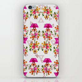 Watercolor Floral & Triangle Pattern Home Goods Design iPhone Skin