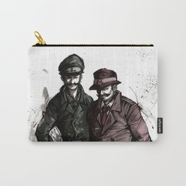 Mario and Luigi Detectives sumi/watercolor Carry-All Pouch