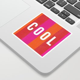 Cool Type on Warm Colors Sticker