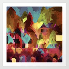 Little old town - modified 3 hours later Art Print