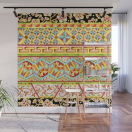 Gypsy Boho Stripe Wall Mural