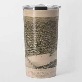 Perspective Map of Little Rock, Arkansas (1887) Travel Mug