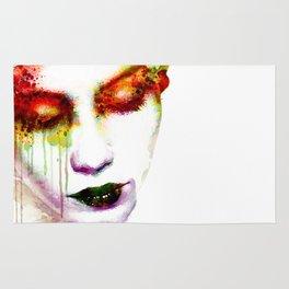 Melancholy in watercolor Rug