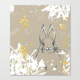 Bunny Portrait M+M Latte by Friztin Canvas Print