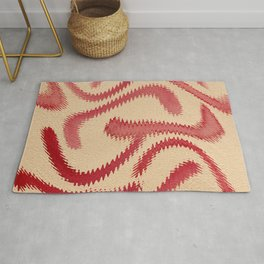 Red Frizz Rug