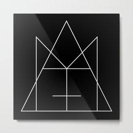M+A Logo - White Metal Print