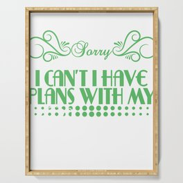 Simple And Impactful T-shirt Design Saying Sorry,I Can't I Have Plans ?With My Lizard Pet Animal Serving Tray