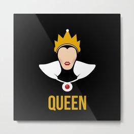 Distorted Dizney: Evil Queen Metal Print