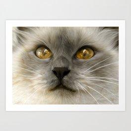"""Cute Kitty (Love cats)"" Art Print"