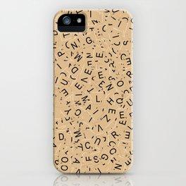 Scrabble Letters iPhone Case