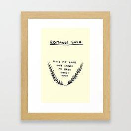 ROMANCE GOLD #1 Framed Art Print