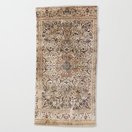 Silk Esfahan Persian Carpet Print Beach Towel