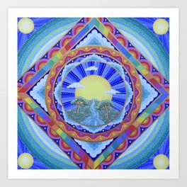 Beautiful World Mandala Art Print