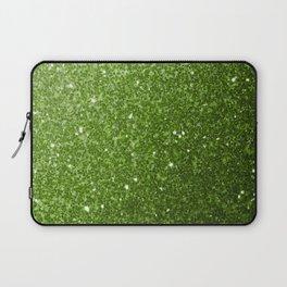 Beautiful light green greenery glitter sparkles Laptop Sleeve