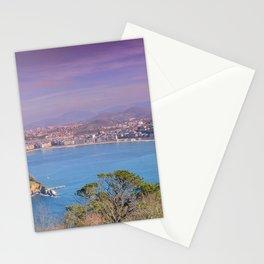 La Concha Bay seen from Igeldo Mount. Stationery Cards