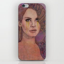 Lana - Deadly Nightshade Crying Tears Of Gold iPhone Skin