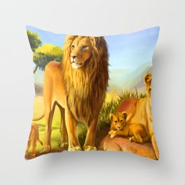 Royal Family Throw Pillow