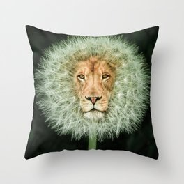 Dan The Lion Throw Pillow