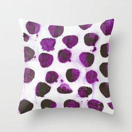 Deep purple floating ink blobs. Throw Pillow
