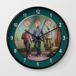 The Three Distinguished Members of the Committee to Handle the Squirrel Problem Wall Clock