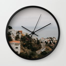 Spain mountain village Tenerife. Travel photo print, poster, landscape photography. Wall Clock