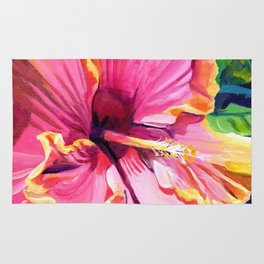 Tropical Bliss Hibiscus Rug