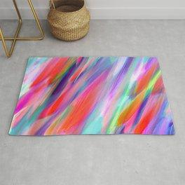 Colorful digital art splashing G399 Rug