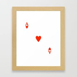 Ace of hearts Costume Halloween Deck of Cards - playing card Framed Art Print