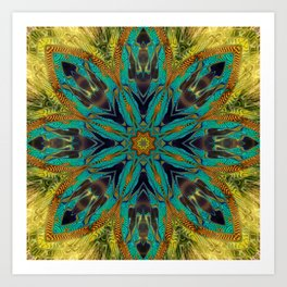 Feather Mandala Art Print