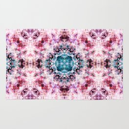 Abstract purple and blue boho pattern Rug