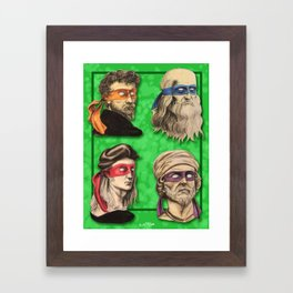 Renaissance Mutant Ninja Artists Framed Art Print
