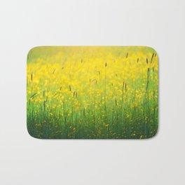 Field green yellow Bath Mat