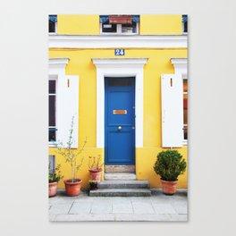 58. Yellow House, Paris Canvas Print