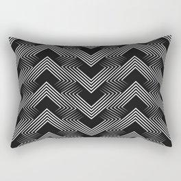 Art Deco . Mountains . Rectangular Pillow