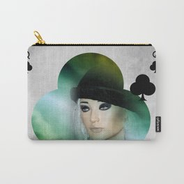 queen of clubs Carry-All Pouch