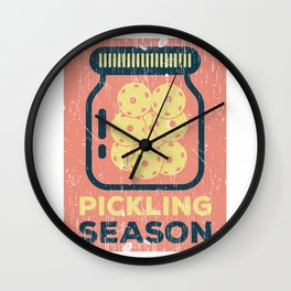 Pickling Season print Funny Pickleball Game Gift Wall Clock