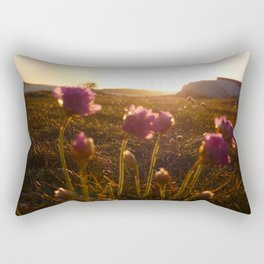 Flowers sunset 2 Rectangular Pillow