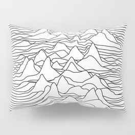 Black and white graphic - sound wave illustration Pillow Sham