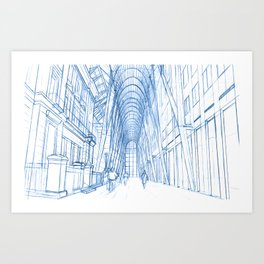 BluePrints | Brookfield Place Glass Arcade - Toronto Art Print
