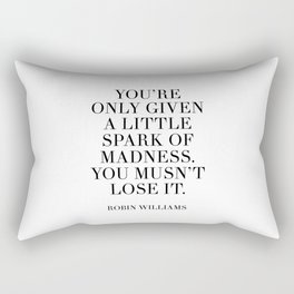 robin williams quote Rectangular Pillow