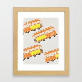 San Francisco Streetcars Framed Art Print