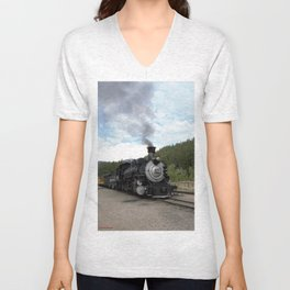 Engine No. 482 at the Rockwood Depot Unisex V-Neck