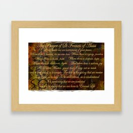 The Prayer of St Francis of Assisi Framed Art Print