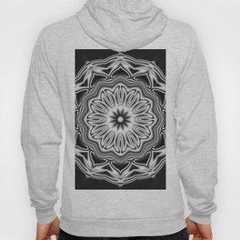 Black-white kaleidoscope acoustics Hoody