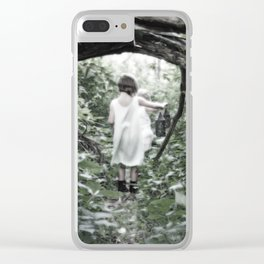 Uncharted Territory Clear iPhone Case
