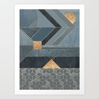 nordic Art Prints featuring Nordic Blue by Elisabeth Fredriksson