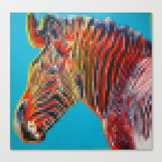 Lego Grevy's Zebra Canvas Print