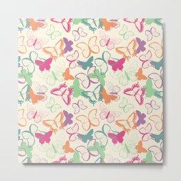 Butterfly pattern 005 Metal Print